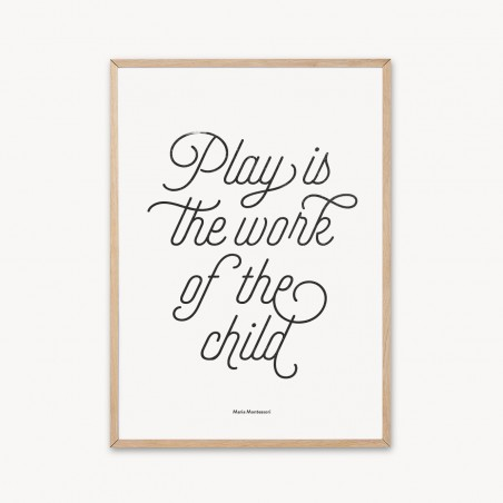 Malinka plagát Play Is The Work Of The Child